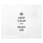 Keep Calm and Mush On King Duvet