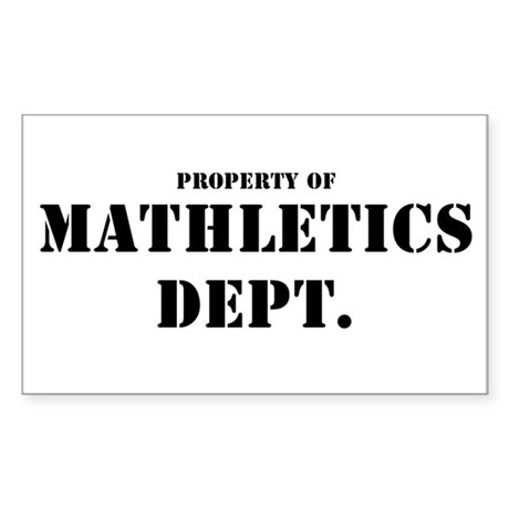 MATHLETICS Sticker (Rectangle)