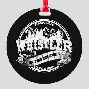 Whistler Old Circle Round Ornament