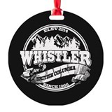 Whistler blackcomb Round Ornament