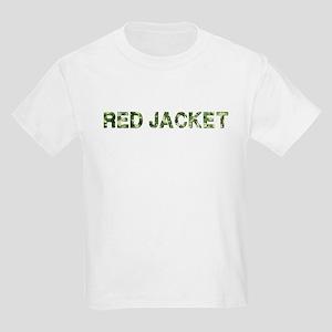 Red Jacket, Vintage Camo, Kids Light T-Shirt