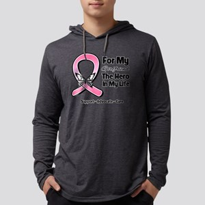 Girlfriend Breast Cancer Mens Hooded Shirt