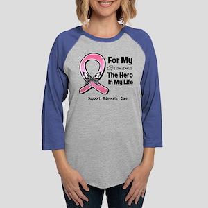 Grandma Breast Cancer Womens Baseball Tee