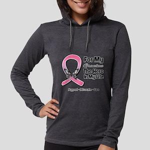 Grandma Breast Cancer Womens Hooded Shirt