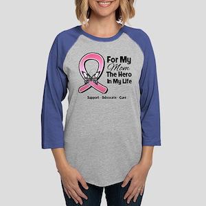 Mom Breast Cancer Womens Baseball Tee