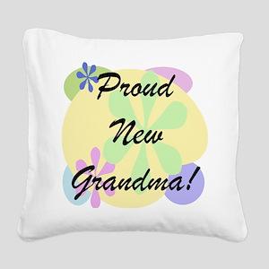 Proud New Grandma Square Canvas Pillow