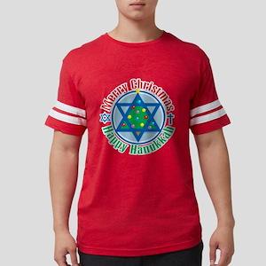 Christmas-Hanukkah Mens Football Shirt
