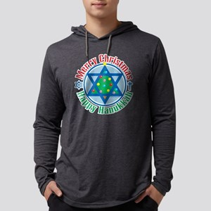 Christmas-Hanukkah Mens Hooded Shirt
