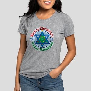 Christmas-Hanukkah Womens Tri-blend T-Shirt