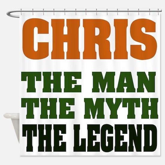 Chris The Legend Shower Curtain