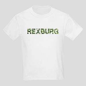 Rexburg, Vintage Camo, Kids Light T-Shirt