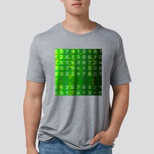 DNA autoradiogram, artwork Mens Tri-blend T-Shirt