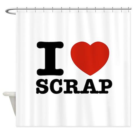 I love Scrap Shower Curtain