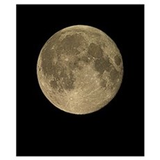 Waning gibbous Moon Poster