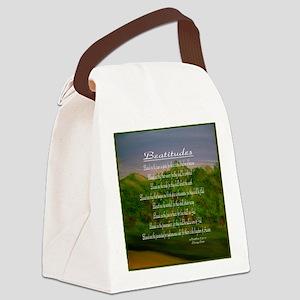 Beatitudes Green Canvas Lunch Bag