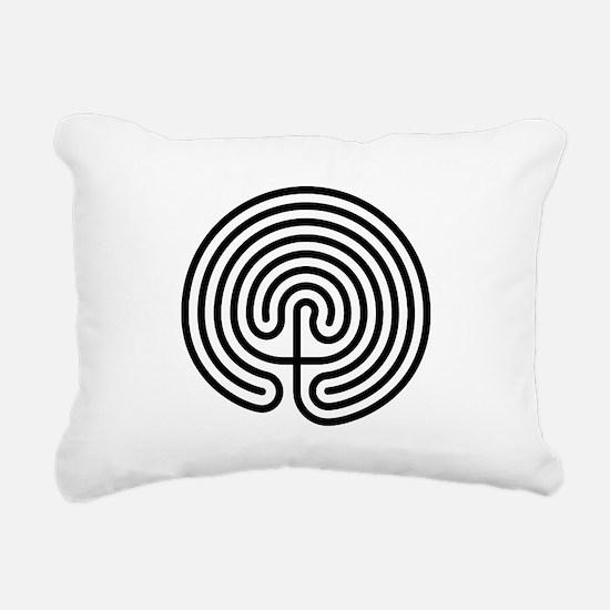 Labyrinth AO Rectangular Canvas Pillow