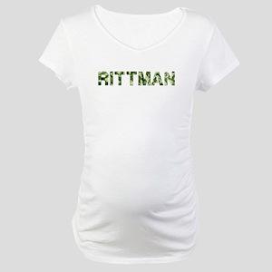 Rittman, Vintage Camo, Maternity T-Shirt