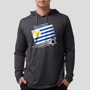 Uruguay Soccer Team Mens Hooded Shirt