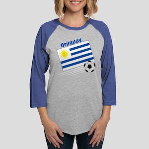 Uruguay Soccer Team Womens Baseball Tee