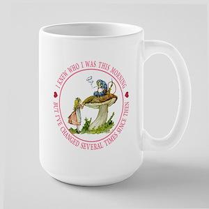 I Knew Who I Was This Morning Large Mug