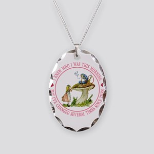 I Knew Who I Was This Morning Necklace Oval Charm