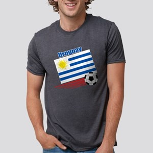 Uruguay Soccer Team Mens Tri-blend T-Shirt