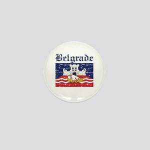 Flag Of Belgrade Design Mini Button