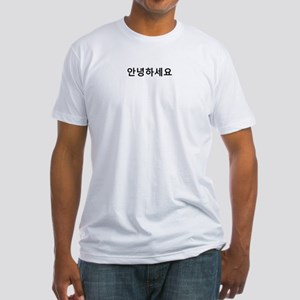 Korean Hello Fitted T-Shirt