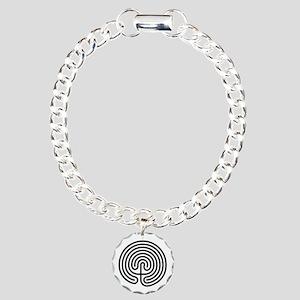Labyrinth AO Charm Bracelet, One Charm