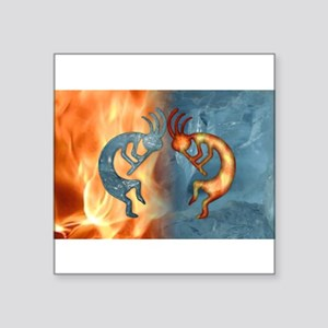 Kokopelli Fire & Ice (NEW) Oval Sticker