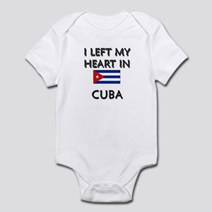 I Left My Heart In Cuba Infant Bodysuit