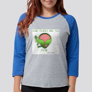 alienplanet2 Womens Baseball Tee