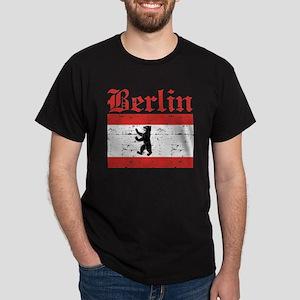 Flag Of Berlin Design Dark T-Shirt