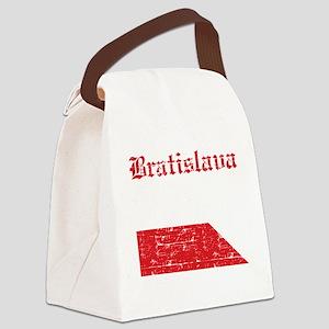 Flag Of Bratislava Design Canvas Lunch Bag