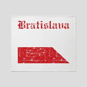 Flag Of Bratislava Design Throw Blanket