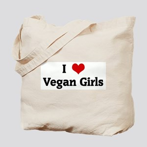 I Love Vegan Girls Tote Bag
