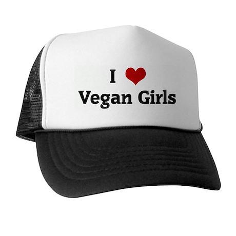 I Love Vegan Girls Trucker Hat