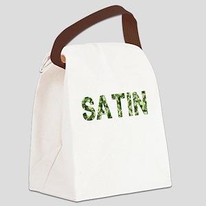 Satin, Vintage Camo, Canvas Lunch Bag