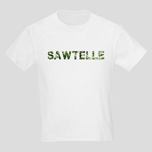 Sawtelle, Vintage Camo, Kids Light T-Shirt