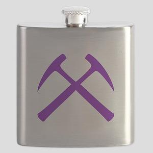 Purple Rock Hammers Flask