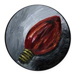 Holiday Red Light Round Car Magnet