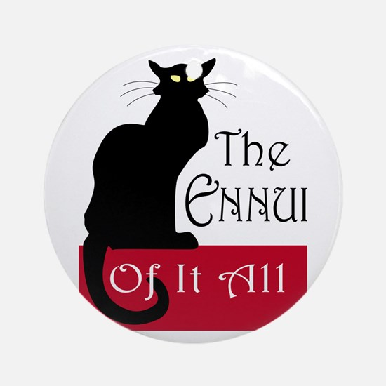 The Ennui Cat Ornament (Round)