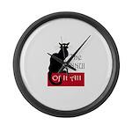 The Ennui Cat Large Wall Clock