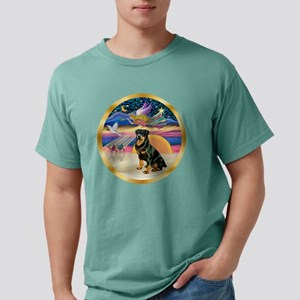 W-XmasStar-Rottweiler3-r Mens Comfort Colors Shirt