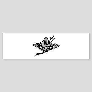 Crane-shaped oak leaves Sticker (Bumper)