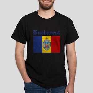 Flag Of Bucharest Design Dark T-Shirt