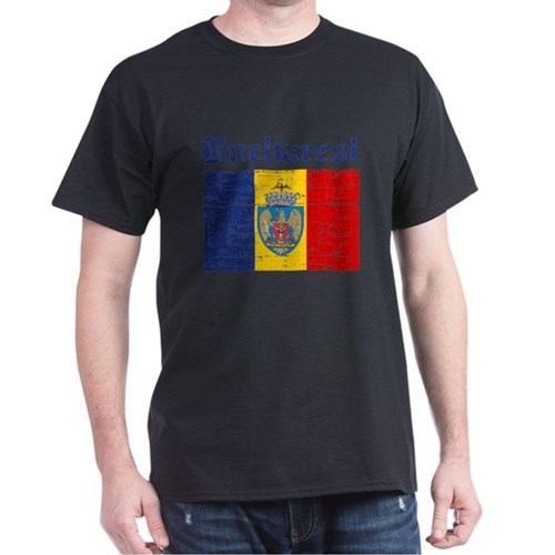 Flag Of Bucharest Design T-Shirt