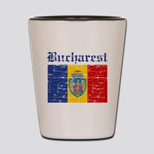 Flag Of Bucharest Design Shot Glass