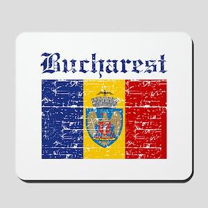 Flag Of Bucharest Design Mousepad