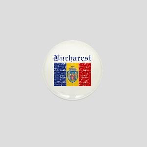 Flag Of Bucharest Design Mini Button